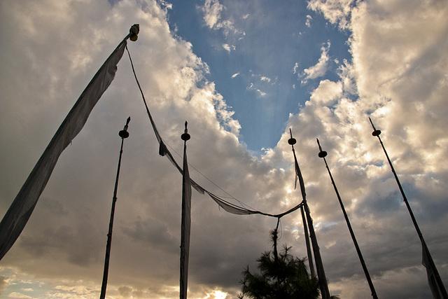 Prayer flags, Paro