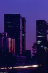 The purple  hour, Downtown Los Angeles 1980 (180°)
