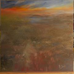 Crépuscule d'automne sur Balatre