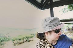Resting in Sabah tea plantations