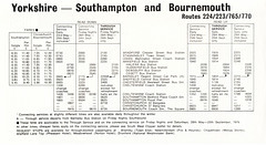 Bournemouth Clipper timetable Summer 1976