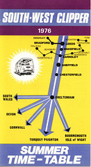 South West Clipper brochure (front page) Summer 1976