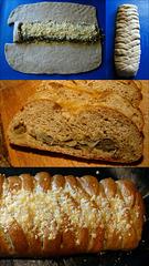 Caramelised Onion, Herb, Cheese Stuffed Bread