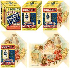 Quaker Oats Metamorphic Trade Card