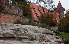 Sandsteinfelsen der Kaiserburg