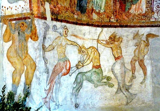 St. Jakob in Kastelaz bei Tramin, romanische Fresken