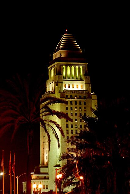 Los Angeles City Hall at Night