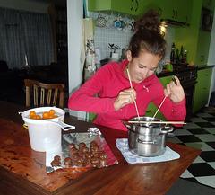 Erika & chocolate cumquats