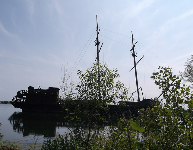 Ghost boat wreck