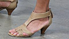 wife in nine west heels
