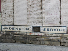 Drive-in service, ring for service ring for service ring for service, closed closed.