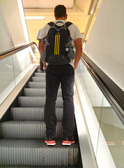Cologne 2014 – On the escalator in the department store
