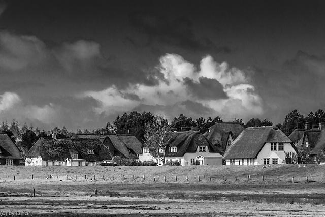 Friesenhäuser hinter dem Deich - Frisian Houses behind the Dike (270°)