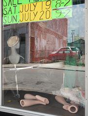 A plastic mannequins' legs business.