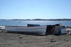Barque inuit / Inuit rowboat.