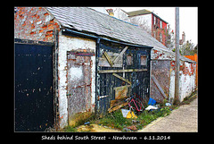 Sheds behind South Road  - Newhaven - 6.11.2014