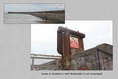 West Breakwater barrier - Newhaven - 6.11.2014