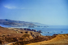 Along Pacific Coast Highway just north of the mouth of the Russian River (150°)