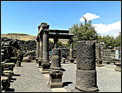 Israel: ruinas de Korazim.