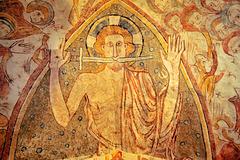 Christ de l'Apocalypse - Fresques de l'église de Gargilesse