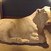 Marble Figure of Recumbent Bull British Museum May 2014