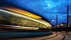 BESANCON: Passage d'un tram à la gare Viotte.