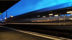 BESANCON: Gare Viotte: Passage d'une locomotive