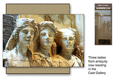 Three ladies from antiquity - Cast Gallery - The Ashmolean Museum, Oxford - 24.6.2014