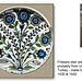 Turkish fritware dish with flowers c 1540 - The Ashmolean Museum, Oxford - 24.6.2014