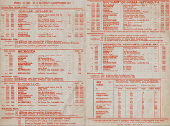 Yelloway/Associated Motorways Holiday Express Services timetable - Summer 1973 (Pages 2 and 3)