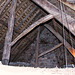 Old roof timbers and insulation