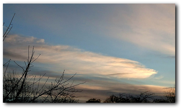ciel bleu ce soir