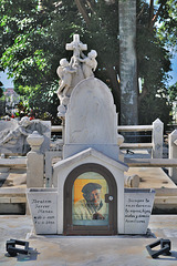 The tomb of famous singer Ibrahim Ferrer
