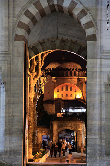 Turchia - Istanbul - Aya Sofya da Moschea Blu