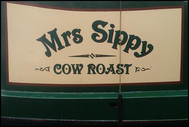 Mrs Sippy narrowboat