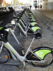 Since electric trottinettes are operating, the GIRA - Bikes of Lisbon stay parked