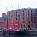 Tall ship in dock, Liverpool