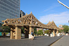 pont de carton le matin / cardboard bridge in the morning