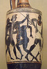 Detail of a Black-Figure Lekythos possibly with the Quarrel over Achilles' Armor in the Louvre, June 2013