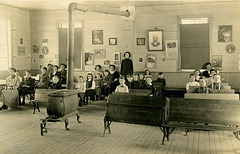 Students and Teacher in a One-Room Schoolhouse, March 1911