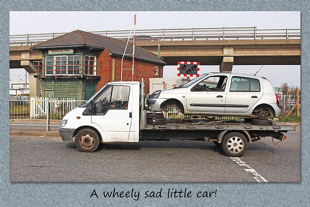 A wheely sad little car - Newhaven - 10.10.2015