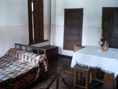 Furniture inside Stalin's childhood house.