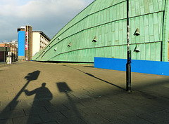 Me and my shadow companions behind the Centre for Life