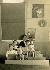 Students and Teacher in a One-Room Schoolhouse, March 1911 (Right)