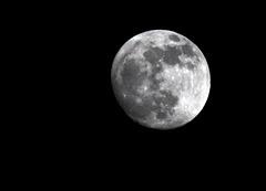 Mond um 18 Uhr 30 am 19.01.19