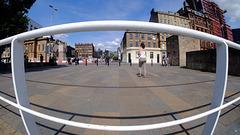 Clyde Street in Glasgow Viewed through a Fisheye Lens
