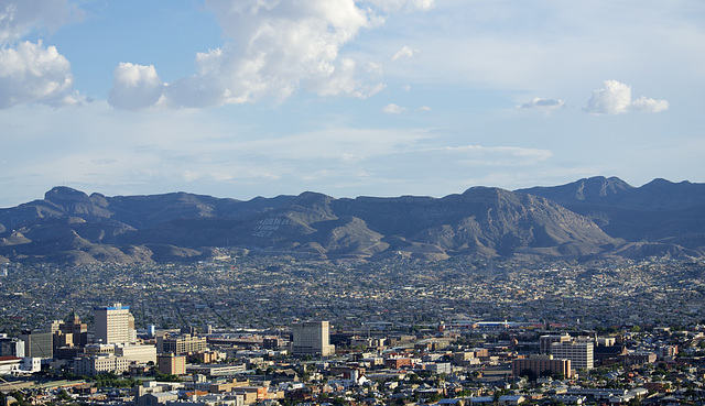 View from El Paso, Texas (to Mexico)