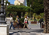 People in Plaza de San Juan de Dios, Cadiz