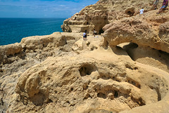 A mere corner - of the stunning ... 'Algar Seco'  cliffs formation 'Carvoeiro'.. Portugal.