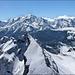 Chamonix. Survol du Massif du Mont-Blanc (74) 23 mai 2014.